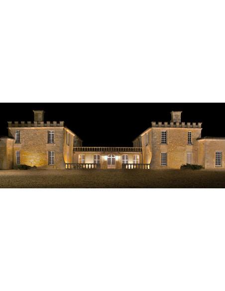 Le château à Saint-Emilion vu de nuit