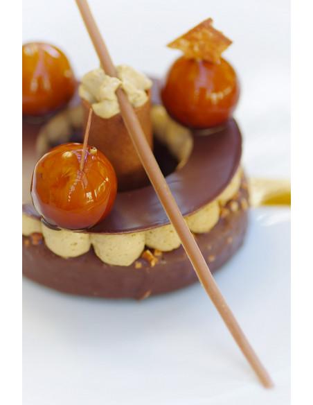 Un des desserts du restaurant gastronomique lors de votre week-end amoureux