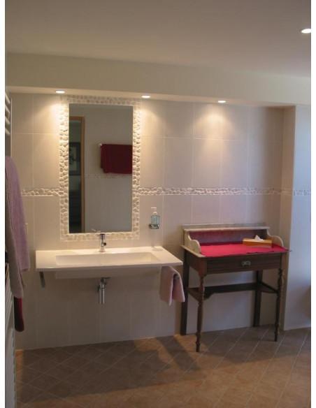 Une des salles de bains chez le viticulteur