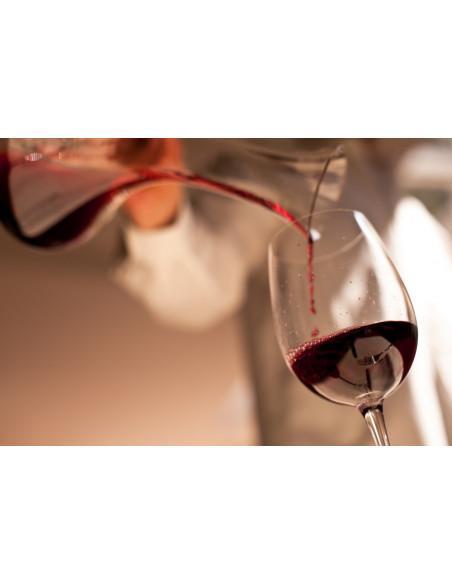 Le service du vin en carafe, digne des plus grandes tables