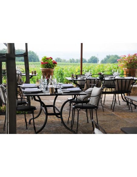 Profitez d'une table tout à côté des vignes...