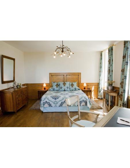 Une des chambres du Château avec vue sur les vignes et jacuzzi & baignoire balné privés, le top !!!