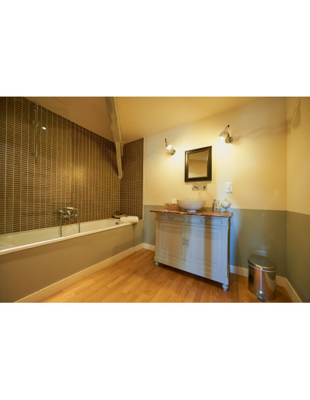 Une des salles de bain romantique du Château