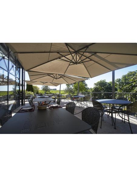 La terrasse du Château pour prendre votre petit déjeuner, vue sur vignoble...