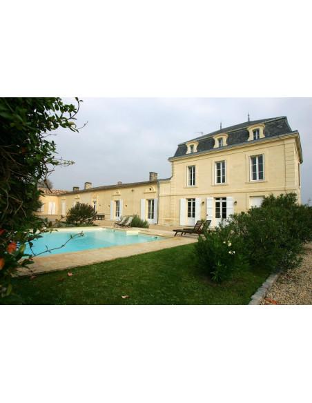 Le Château où vous séjournez, avec vignoble tout autour et piscine aux beaux jours