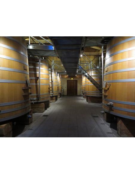 Cuvier de vinification en bois pour les fermentations du vin