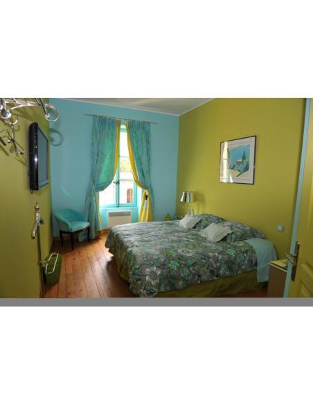 et la chambre verte comme celle de la couleur de la vigne !