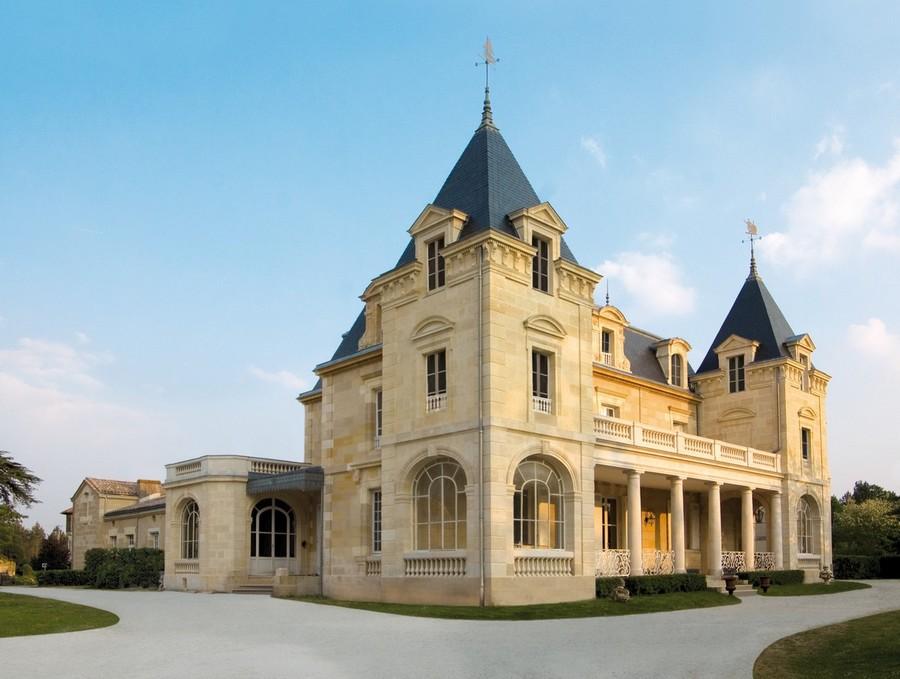 Château en pierre dans les Graves à Bordeaux