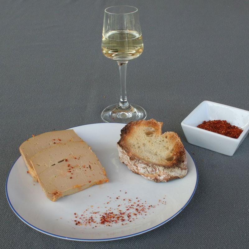 Dégustation de foie gras avec crémant Bordeaux