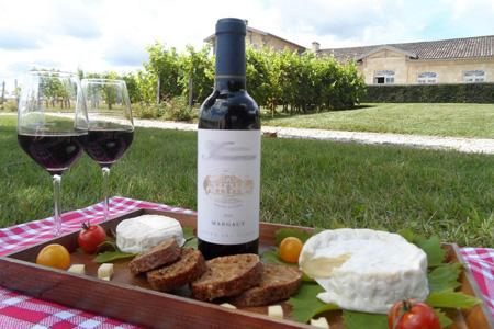 Initiation œnologie dans une belle propriété du bordelais, un domaine viticole à Saint-Emilion, Margaux, Haut-Médoc, Pomerol. Terminez par dégustation fromage