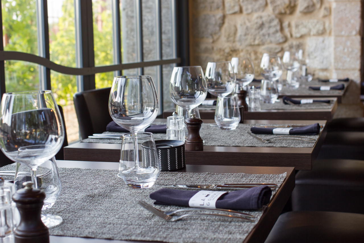 Table du restaurant gourmet en Médoc
