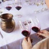 Appréciez la couleur et l'intensité colorante d'un vin de Bordeaux ! Atelier œnologie proposé dans chacun des week-ends et séjours œnologie ! @laroute_des_vins  #vinsdebordeaux #oenologie #laviedechateau #weekendtime #viedereve #ideecadeaunoel